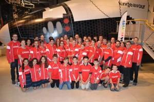 Délégation canadienne à la WRO au Costa RIca. Notre équipe JFO en fait partie!